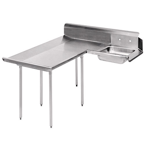 Advance Tabco DTS-D30-48 4' Spec Line Stainless Steel Dishlanding Soil L-Shape Dishtable