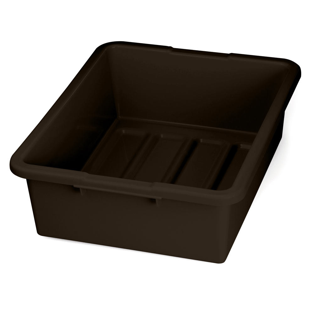 Tablecraft 1557br Brown 21 Quot X 17 Quot X 7 Quot Heavy Duty Polyethylene Plastic Bus Tub Bus Box