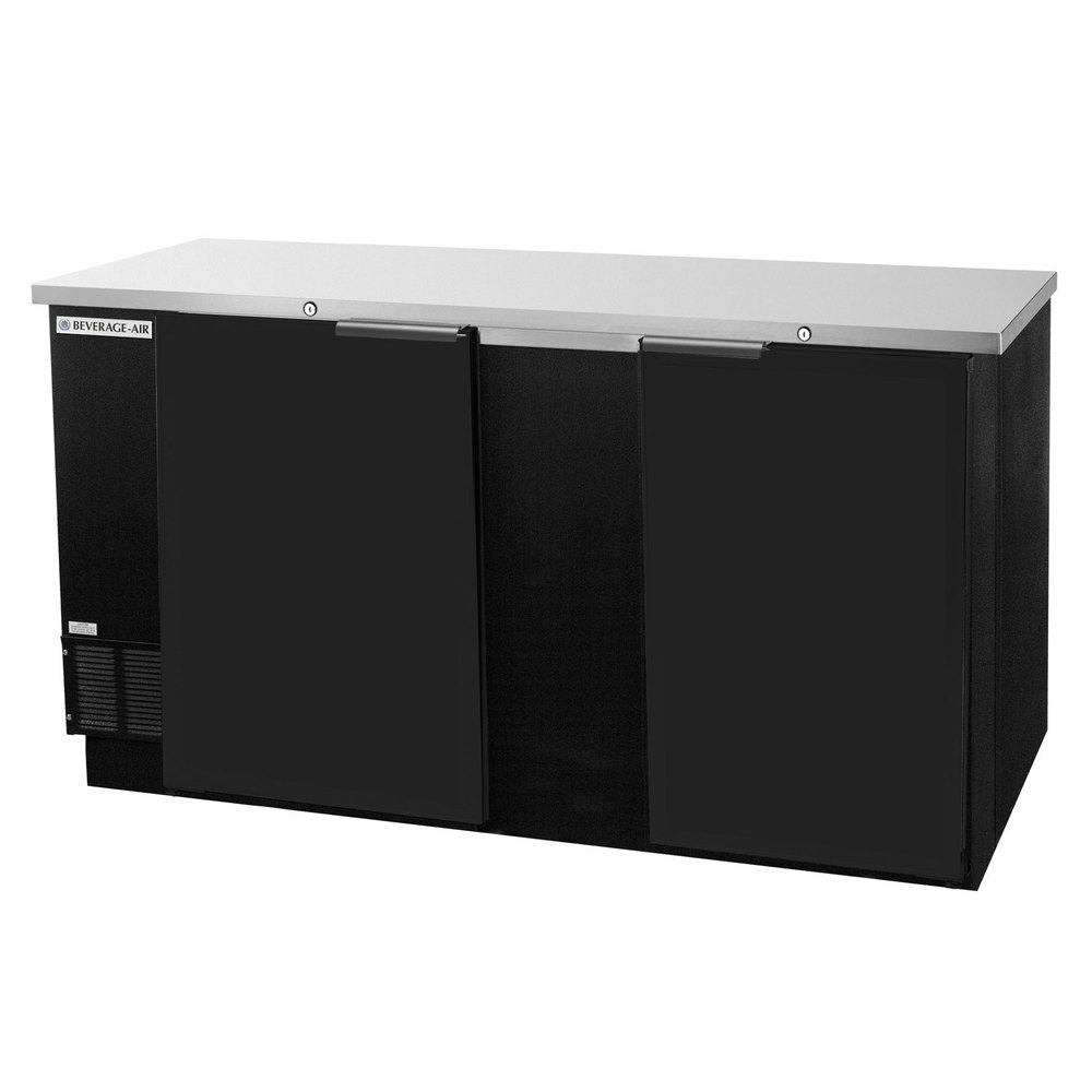 Beverage air bb68hc 1 f b 68 black food rated solid door for 1 door chiller