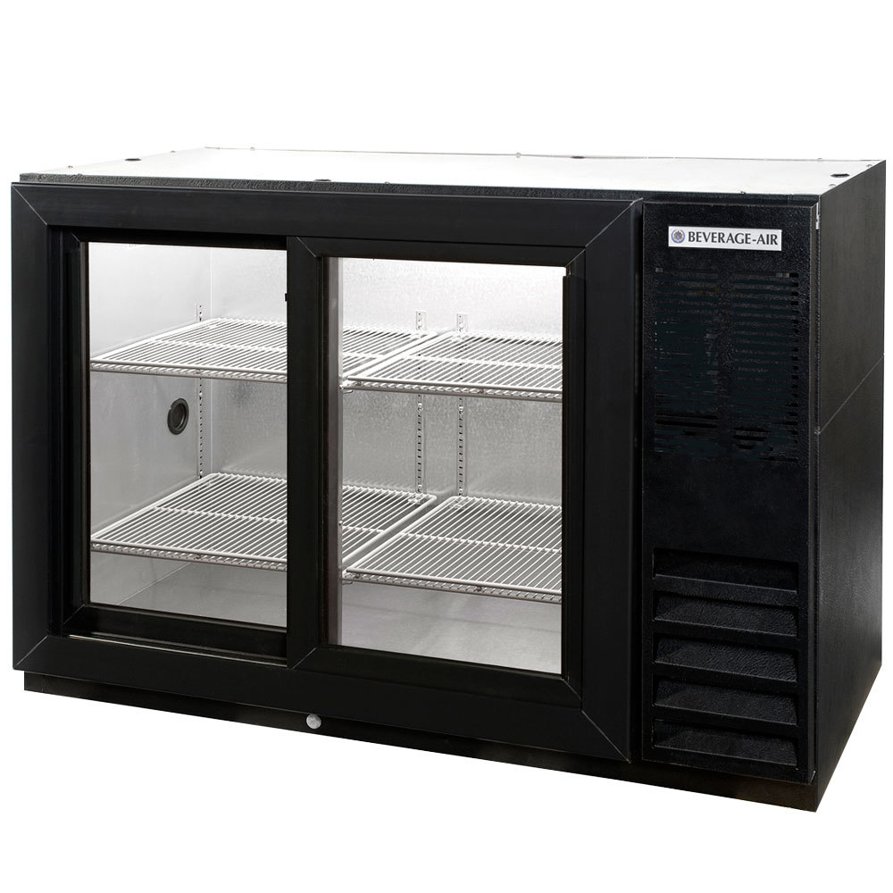 Beverage air bb48gsy f 1 b led 48 back bar refrigerator for 12 foot sliding glass door price