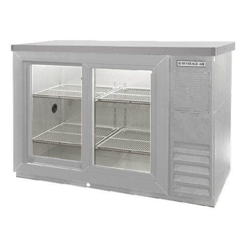 "Beverage Air (Bev Air) BB48GSYF-1-S-27-PT 48"" Food Rated Pass-Thru Sliding Glass Door Back Bar Refrigerator - All Stainless Stee at Sears.com"