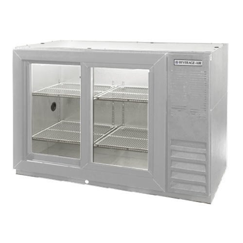 "Beverage Air (Bev Air) BB48GSYF-1-S-PT 48"" Food Rated Pass-Thru Sliding Glass Door Back Bar Refrigerator - Stainless Steel at Sears.com"