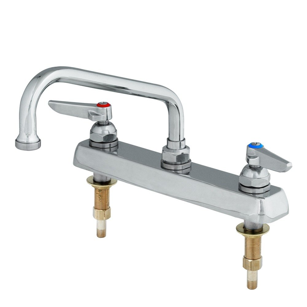 T&S B-1123-XS Deck Mount Workboard Mixing Faucet with 8\