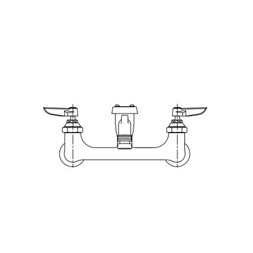 T&S B-2271-POL Wall Mount Polished Chrome Service Sink Faucet with 8 ...