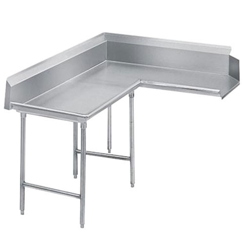Advance Tabco DTC-K60-60 Super Saver 5' Stainless Steel Korner Clean L-Shape Dishtable