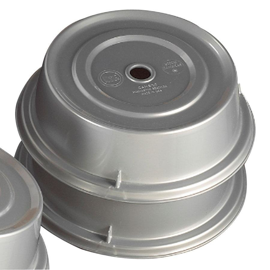 "Cambro Camwear 909CW486 Silver Metallic Camcover 9 3/4"" Plate Cover 12/Case at Sears.com"