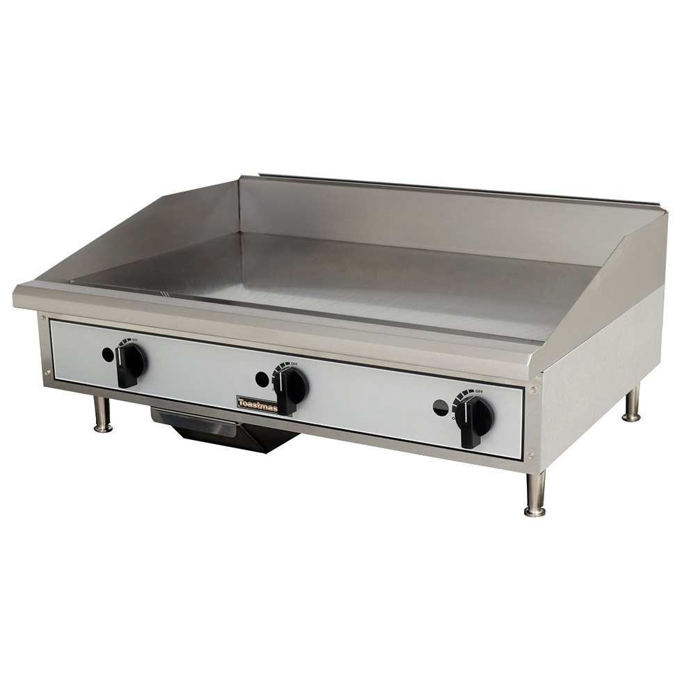 "Toastmaster TMGM36 36"" Gas Countertop Griddle - Manual Controls"