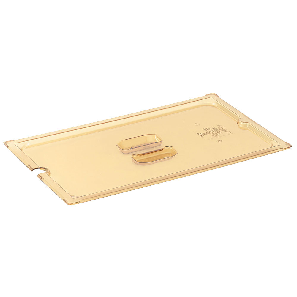 Vollrath 34300 1/3 Size Amber Slotted Cover for Super Pan