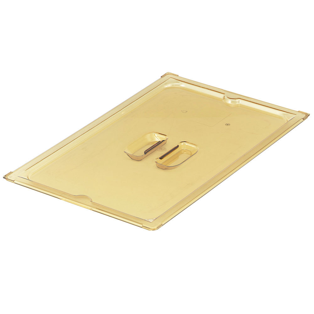 Vollrath 33500 1/2 Size Long Amber Solid Cover for Super Pan