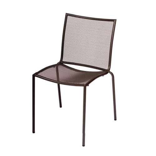 BFM Seating Abri DV948A Wrought Iron Outdoor Stackable Mesh Chair - Anthracite Finish at Sears.com