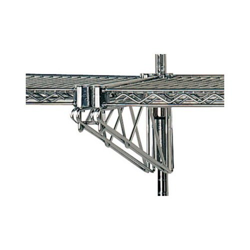 "Advance Tabco AABM-18 18"" Adjustable Double Mid-Mounted Bracket for Wall Mounted Shelving Systems"