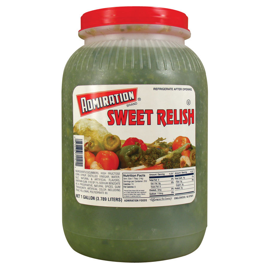Admiration Sweet Relish 4 x1 Gallon Jars / Case