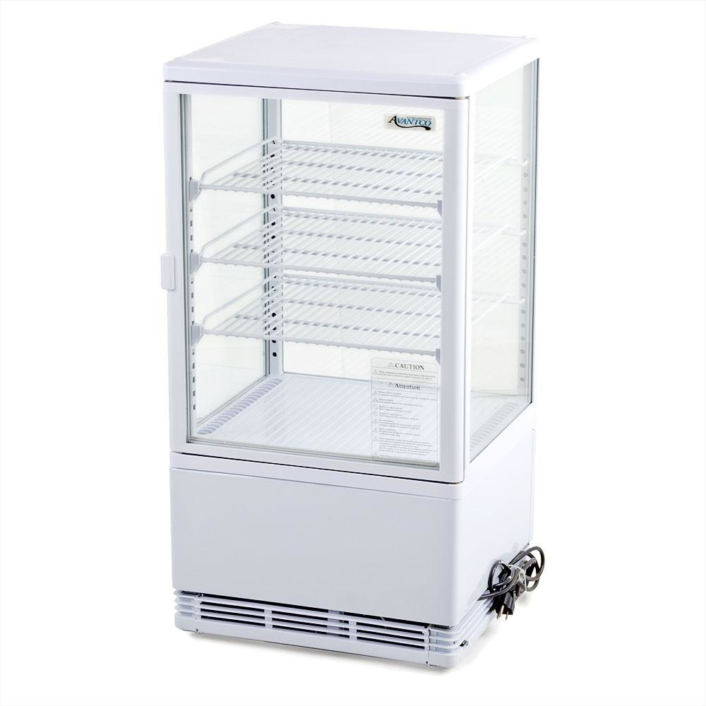 Countertop Refrigerator : Avantco FSG-3 Four Sided Glass Countertop Beverage Cooler - 3 Cu. Ft ...