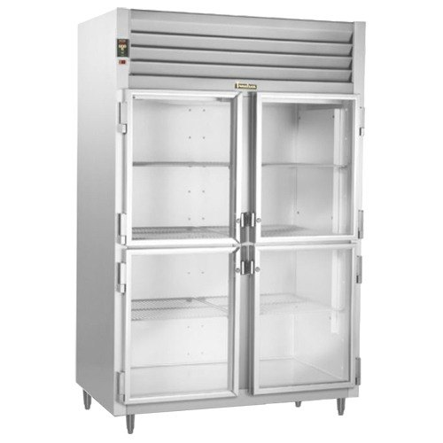 Traulsen AHT232DUT-HHG 42 Cu. Ft. Two Section Glass Half Door Narrow Reach In Refrigerator - Specification Line