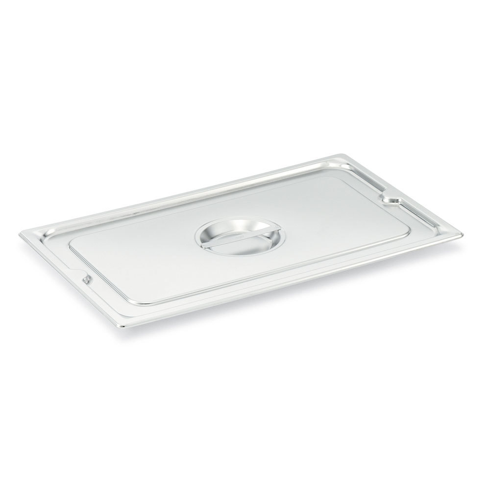 Vollrath 93600 1/6 Size Long Stainless Steel Solid Cover for Super Pan 3