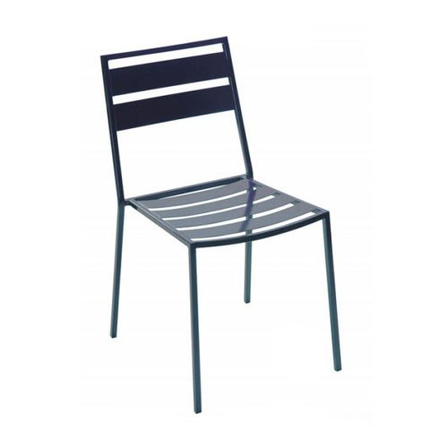 BFM Seating Alexa DV281A Wrought Iron Outdoor Stackable Chair - Anthracite Finish at Sears.com