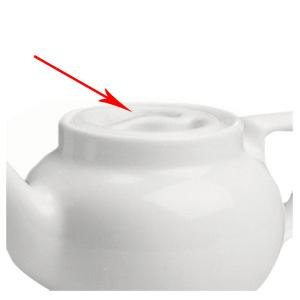 Hall China 110CWHA COVER White Boston Teapot Replacement Lid - 12/Case