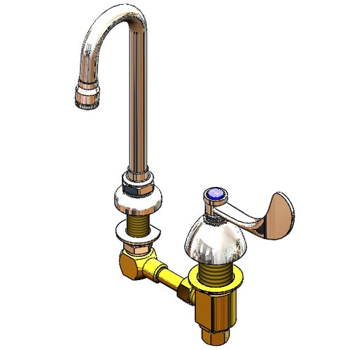 2866-04-CW Deck Mount Commercial Cold Water Faucet with 4 ...