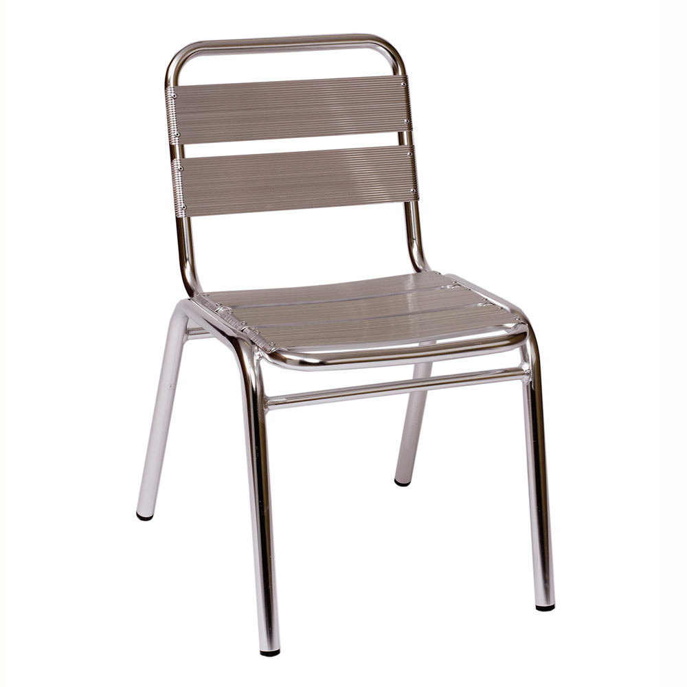 BFM Seating Parma MS0025 Stackable Outdoor Aluminum Chair