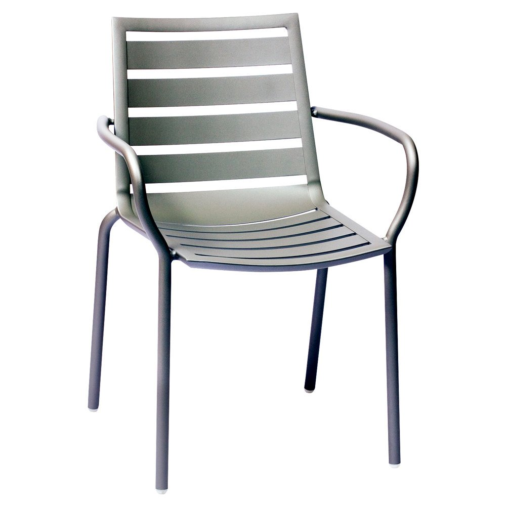 BFM Seating South Beach DV350TS Stackable Outdoor Aluminum Chair With Arms