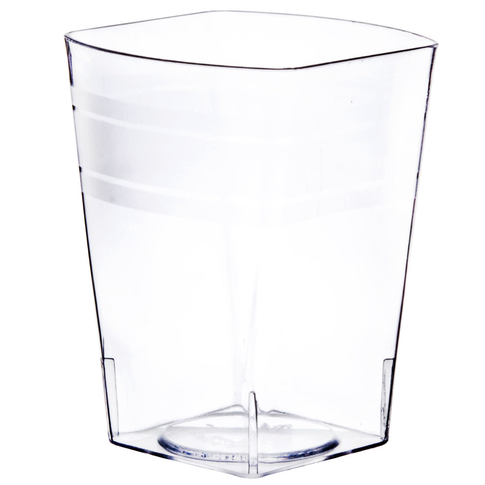 Top Clear Plastic Cup : Fineline tiny temptations cl oz tumblers