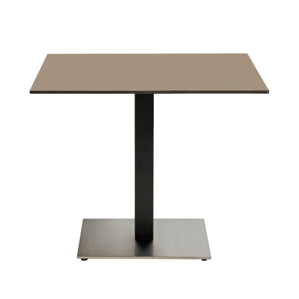 "Grosfillex US63HP81 Indoor HPL 36"" x 36"" Tabletop - Taupe"