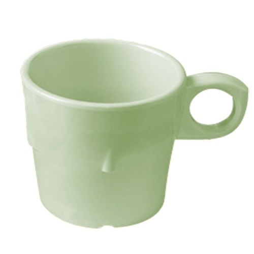 GET DC-101-G Green 7.5 oz. SuperMel Conic Cup - 48 / Case