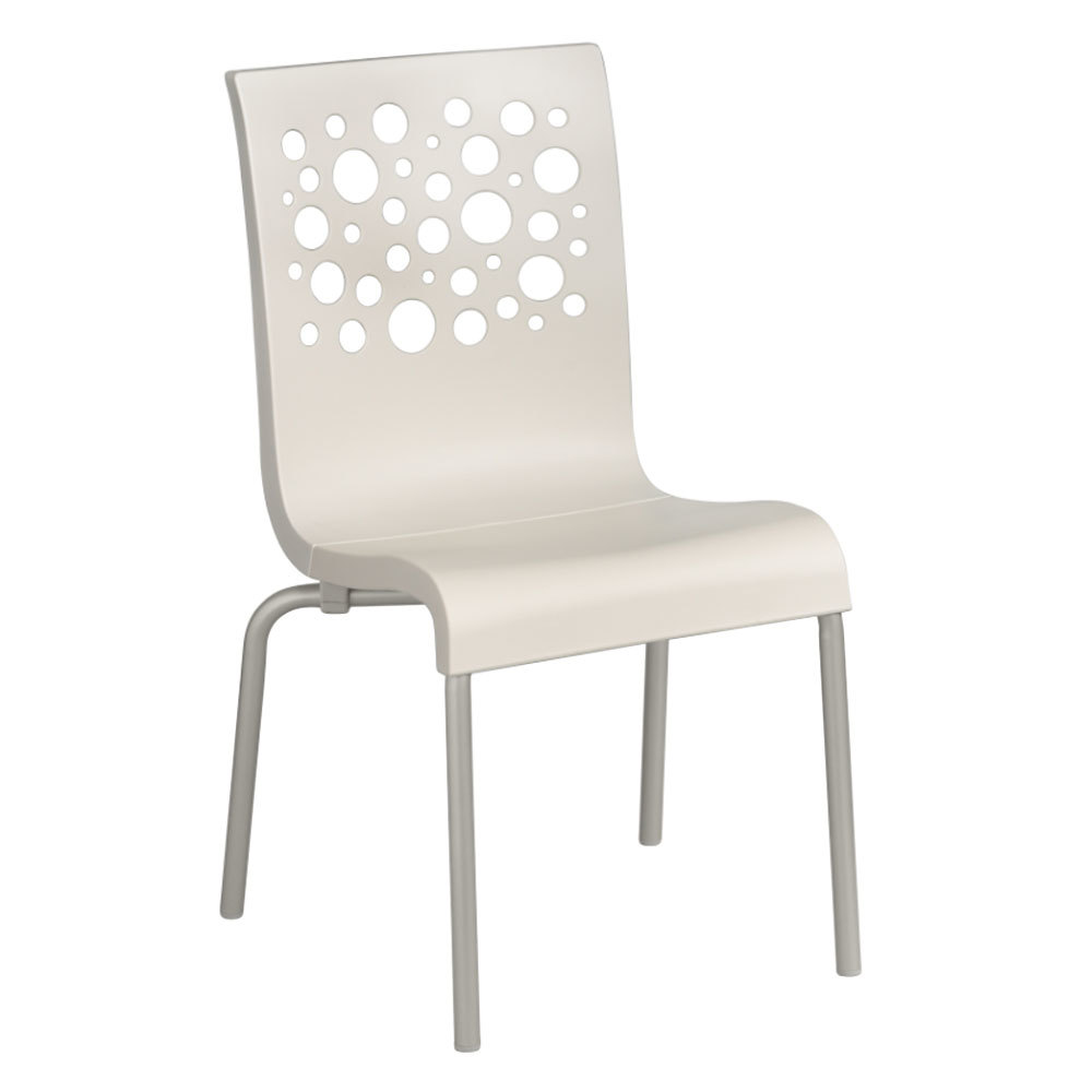 Grosfillex tempo resin indoor stacking chair white back white seat - White resin stacking chairs ...