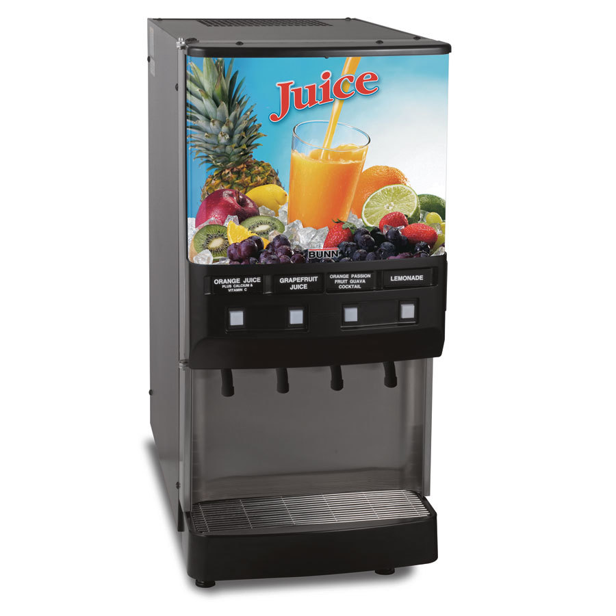 Bunn JDF-4S 4 Flavor Cold Beverage Juice Dispenser with Cold Water Tap - 120V (Bunn 37300.0002)