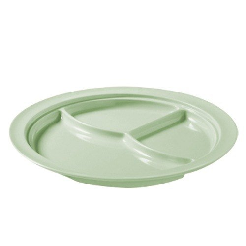 "GET CP-531-G Green 10"" SuperMel Three Compartment Plate - 12 / Case"