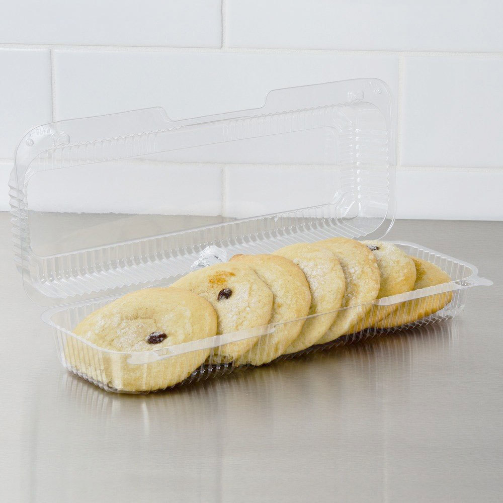 "Dart Solo C60UT1 StayLock 14 3/8"" x 5 1/2"" x 3 1/8"" Clear Hinged Plastic 14"" Strudel or Hoagie Container - 250/Case"