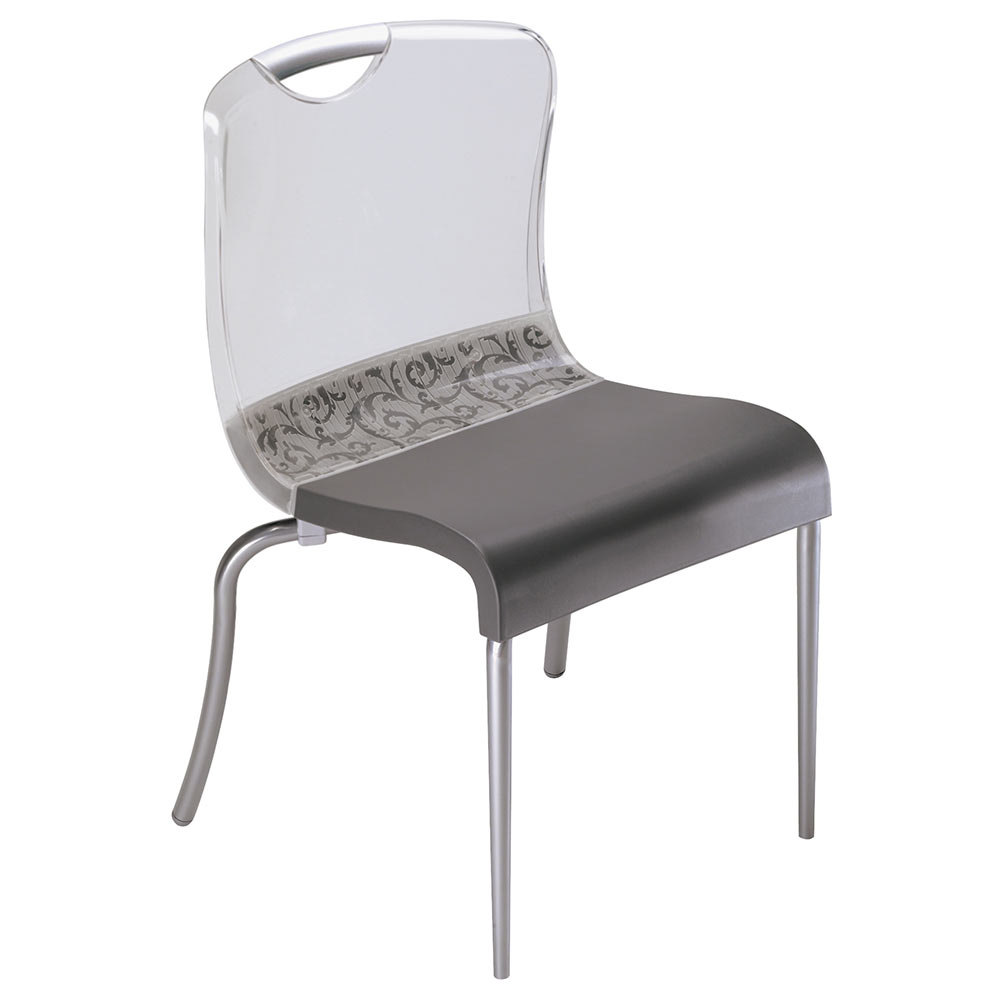 Grosfillex Krystal Resin Indoor Stacking Chair - Clear