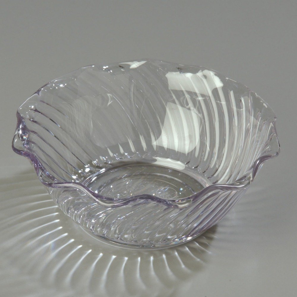 Carlisle 453407 Clear Polycarbonate 13 oz. Tulip Berry Dish - 24 / Case