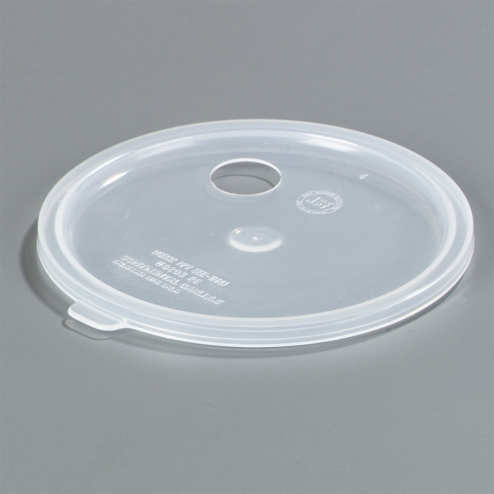 Carlisle 020430 Clear Lid with Hole for 2.7 Qt. Classic Crocks and Poly-Tuf Crocks