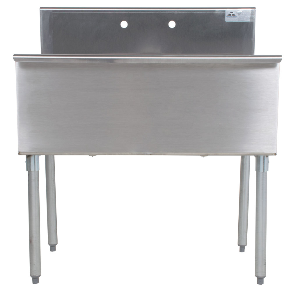 ... Tabco 4-2-36 Two Compartment Stainless Steel Commercial Sink - 36