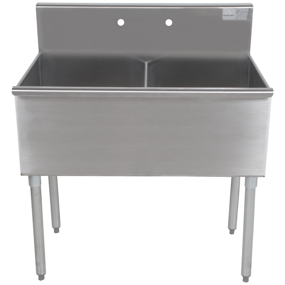 Stainless Industrial Sink : ... Tabco 4-2-36 Two Compartment Stainless Steel Commercial Sink - 36