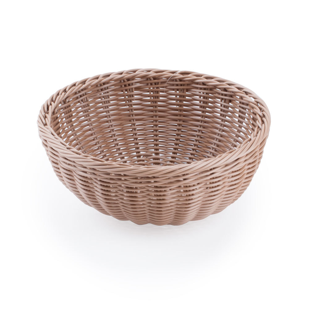 Carlisle 655325 tan 9 woven round basket 6 case - Diametre cercle basket ...