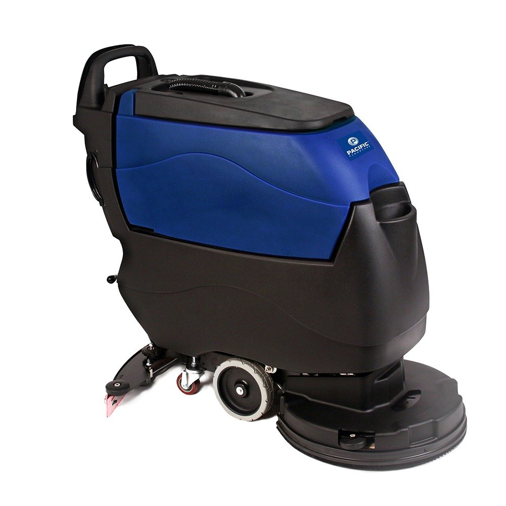 "Pacific 855403 S-20 20"" Walk Behind Floor Scrubber with Traction Drive - 155AH Lead Acid Wet Battery with Charger"