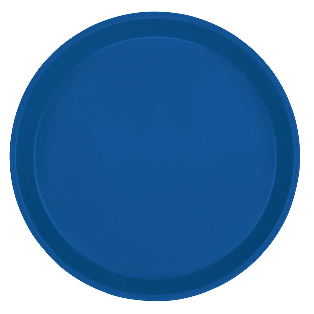 "Cambro 1600123 16"" Round Amazon Blue Fiberglass Camtray - 12 / Case"