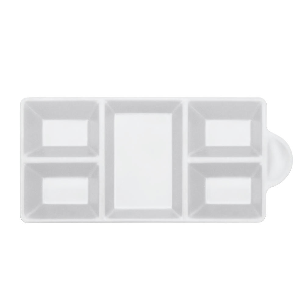"Elite Global Solutions JWT6C Ore 8 3/4"" x 4 3/8"" White Five-Compartment Tray"