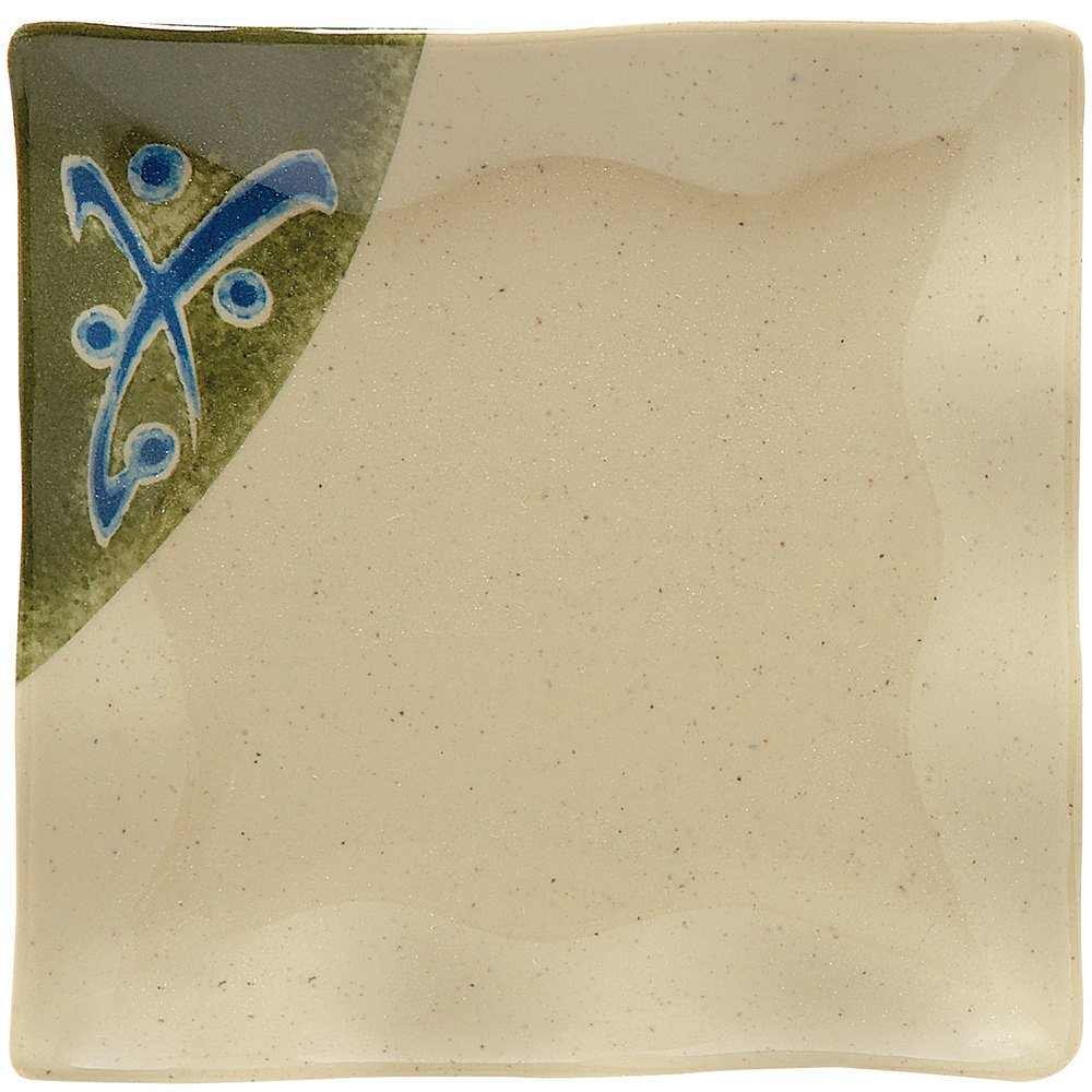 "GET 252-10-TD Japanese Traditional 4"" Square Dish - 24/Case"