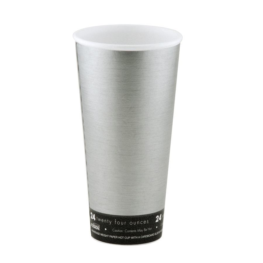 Dart 24U16FS Fusion Steele 24 oz. Customizable Foam Hot Cup 500 / Case