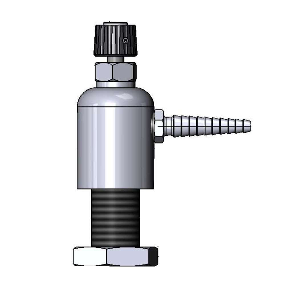 T & S Brass and Bronze Works T&S BL-9506-01 Gray Deck Mount PVC Single Ledge Distilled / Deionized Water Faucet with Serrated Tip Outlet at Sears.com