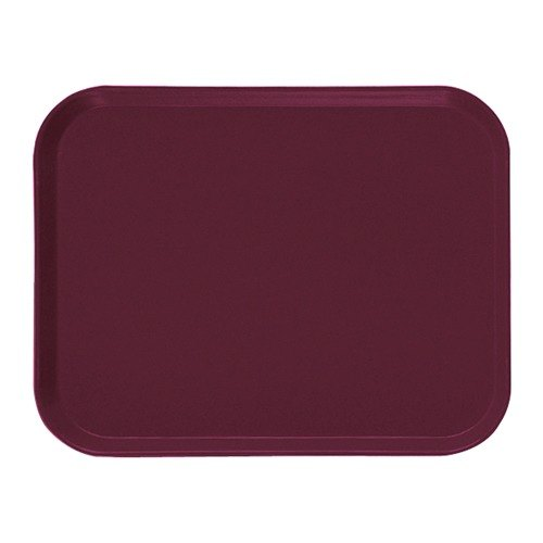 "Cambro 1622522 16"" x 22"" Rectangular Burgundy Wine Fiberglass Camtray - 12/Case"