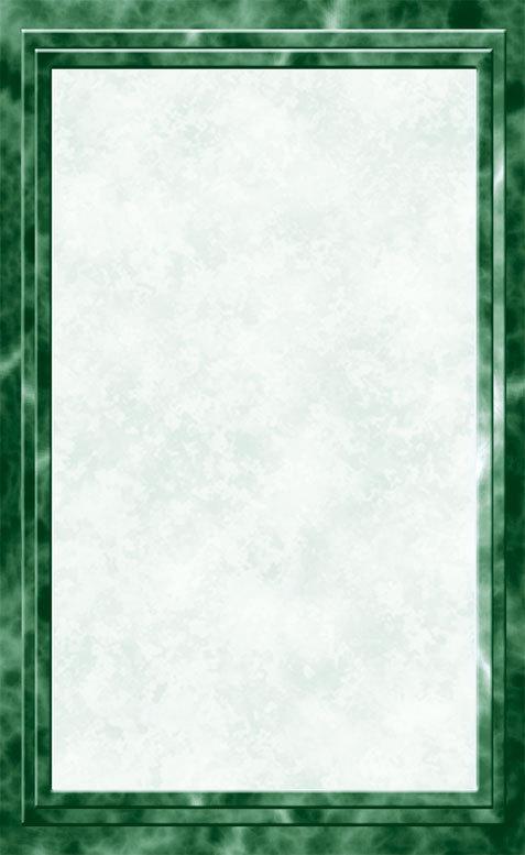 8 1 2 Quot X 11 Quot Green Menu Paper Marble Border 100 Pack