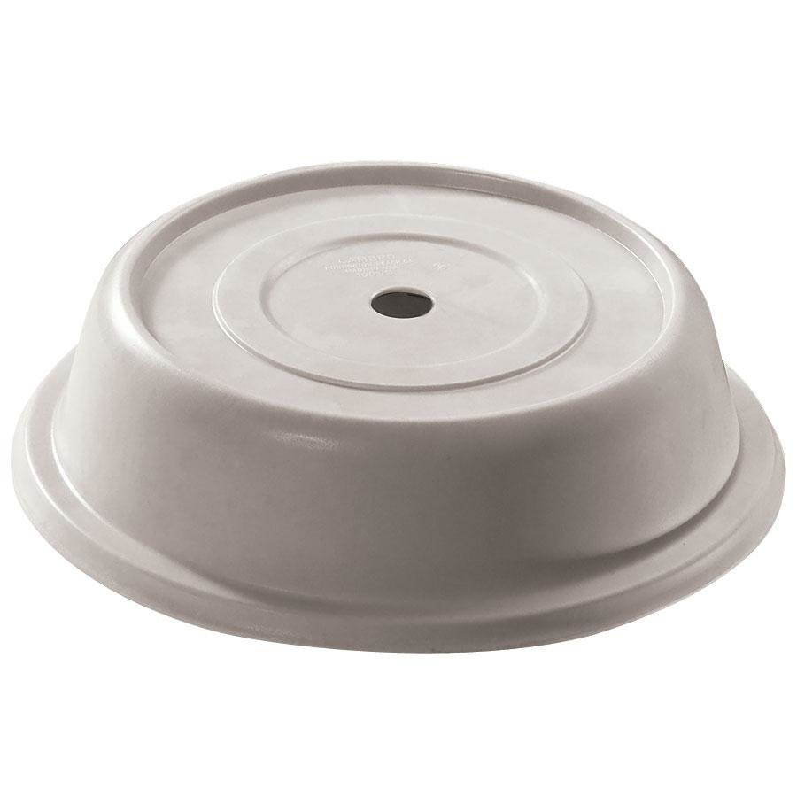 "Cambro 68VS380 Versa Camcover 6 1/2"" Ivory Round Plate Cover - 12/Case"