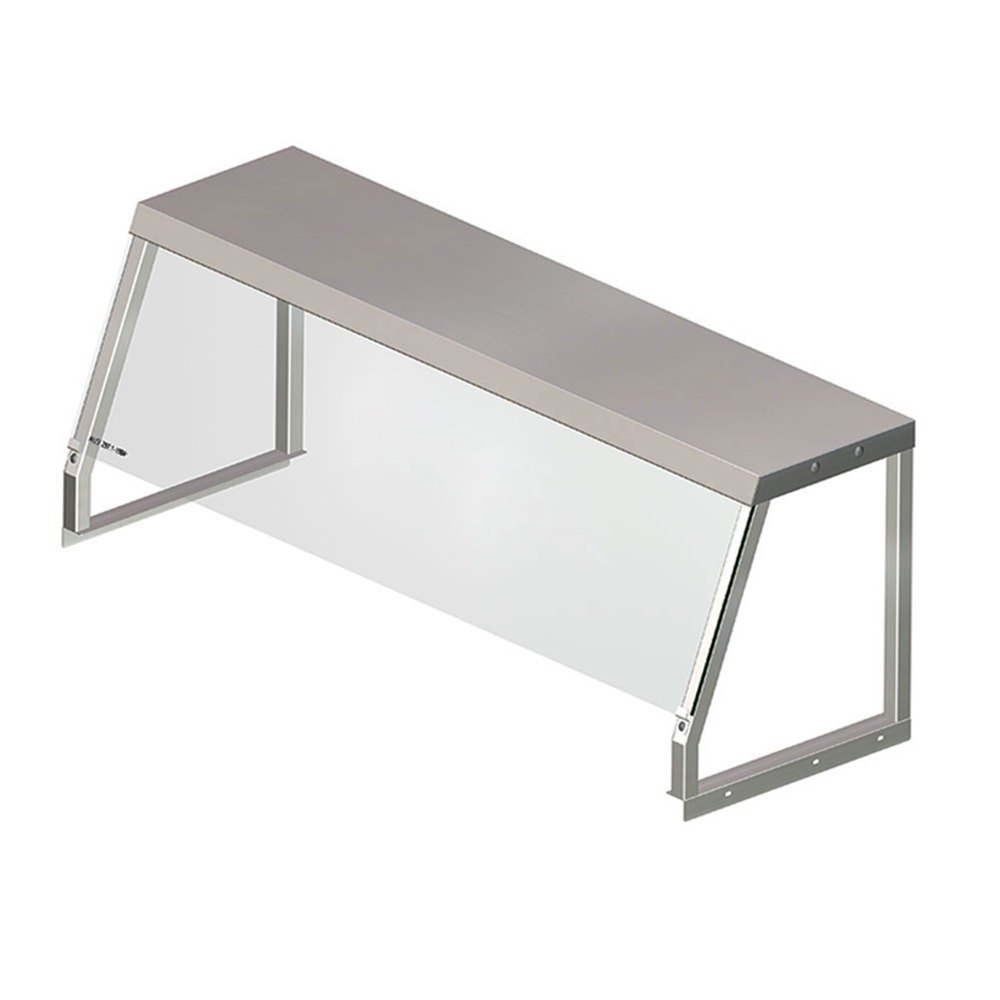 APW Wyott 32010137 Deluxe Glass Serving Shelf for Exposed 3 Well Champion Series Steam Tables