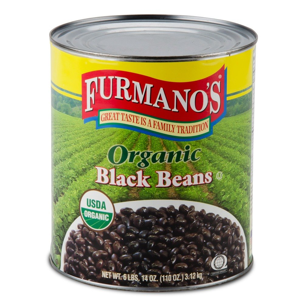 Furmano's Organic Black Beans in Brine 6 - #10 Cans / Case