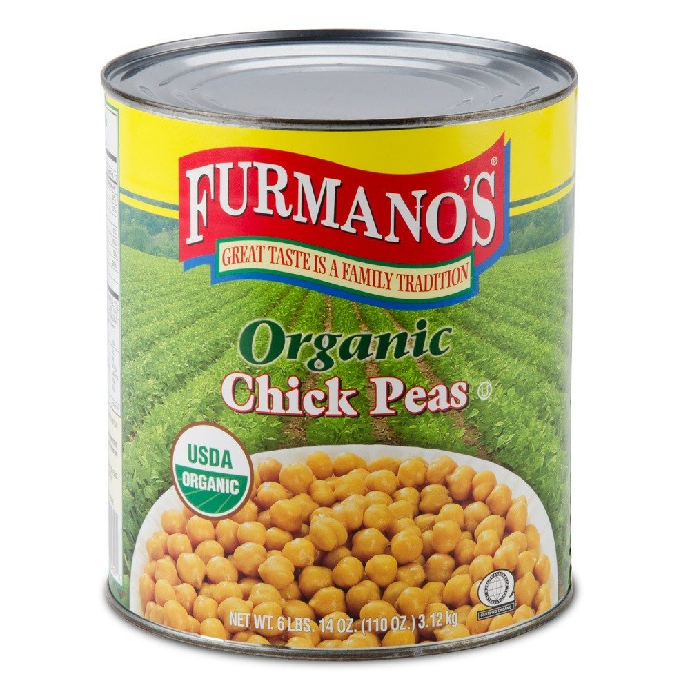 Furmano S 10 Can Organic Chick Peas Garbanzo Beans 6 Case
