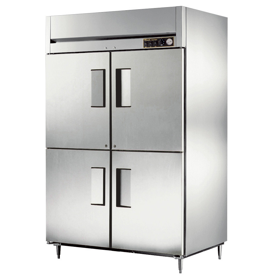 True STR2H-4HS Specification Series Two Section Reach In Heated Holding Cabinet Four Solid Half Doors - 56 Cu. Ft.